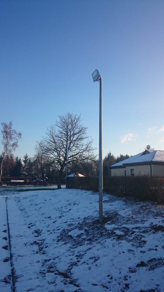 Trainingsbeleuchtung für Bolzplatz