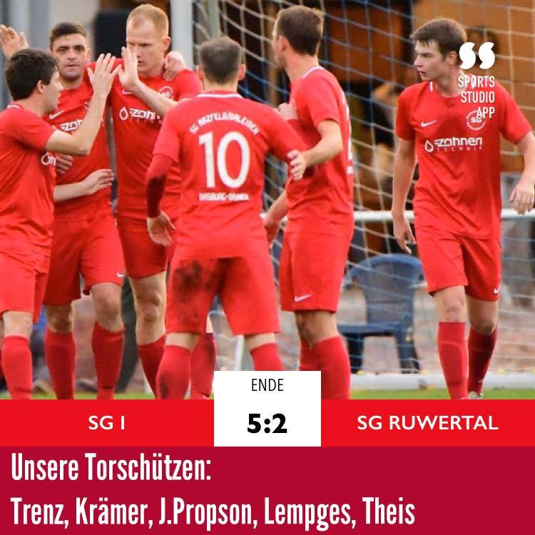SG I gewinnt Nachholspiel vs. Ruwertal (11.03.2020)